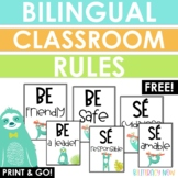 English & Spanish Classroom Rules Posters! FREEBIE!