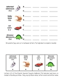 English Spanish Cognate Alphabet-A-D and Extension Activity