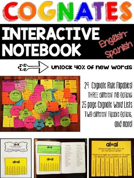 Bilingual Cognates Interactive Notebook