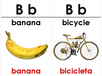 English-Spanish Cognates Vocabulary Cards