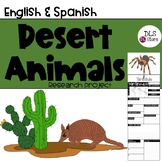 English & Spanish Desert Animals Research Project