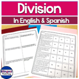Bilingual Division Word Problems in English & Spanish