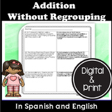 Bilingual Addition Without Regrouping Word Problems in Eng