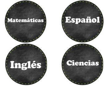 English-Spanish Dual Schedule Labels