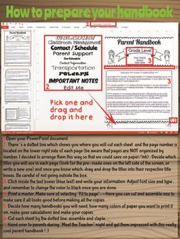 English + Spanish EDITABLE Parent Flip Book Handbook - Folleto para padres