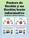 English/Spanish Fiction and Non-fiction Posters