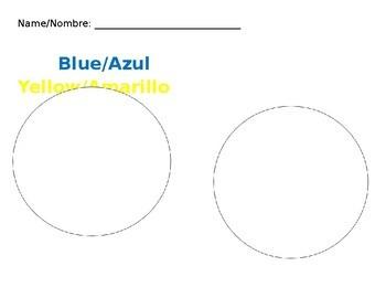 English/Spanish Grouping Colors Sheets