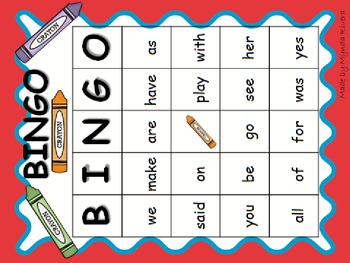 English & Spanish High Frequency Words