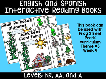 English & Spanish Interactive Reading Books Can Be Used With Frog Street