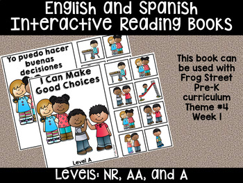 Good Choices Eng & Span Interactive Reading Books Can Be Used With Frog Street