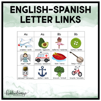 English / Spanish Letter Links