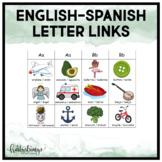 English / Spanish Letter Links