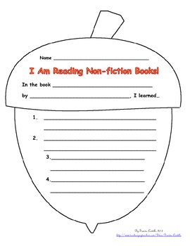 English & Spanish Non-fiction report form - FALL theme