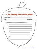English & Spanish Non-fiction report form - FALL theme