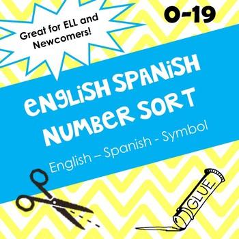 English Spanish Number Sort