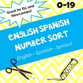 English Spanish Number Sort