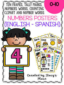 English-Spanish Numbers Posters (1-10)