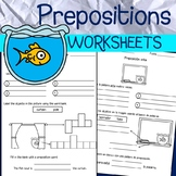 English & Spanish - Prepositions Worksheets & Flashcards - 55