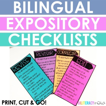 English & Spanish Revise and Edit Expository Checklist!