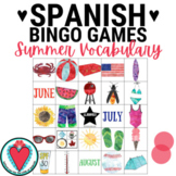 Spanish Summer Activity - Spanish Bingo - Spanish Listenin