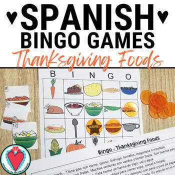 Thanksgiving Activities - Thanksgiving Food Bingo