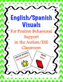 English Spanish Visuals for Positive Behavioral Support in