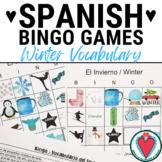 Spanish Winter Activity - Spanish Vocabulary Bingo - Spani