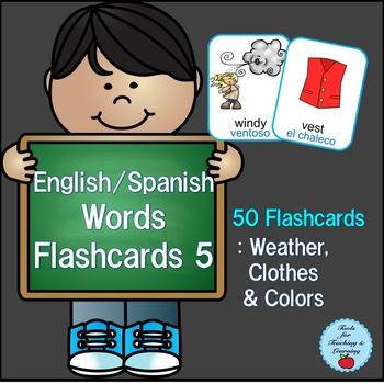 English/Spanish Words Flashcard 5