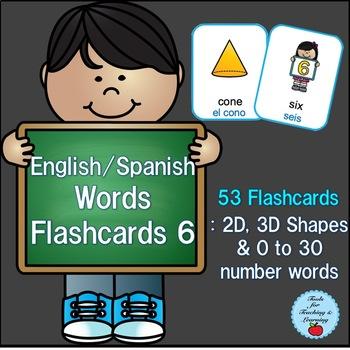 English/Spanish Words Flashcards 6
