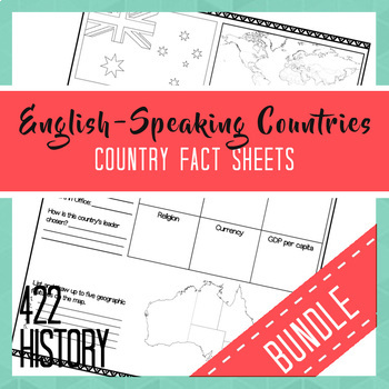 English-Speaking Country Fact Sheets Bundle