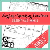 English-Speaking Country Fact Sheets Bundle