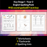 English Spelling and Phonics Pack - EE sound spelled EY as in key (i)