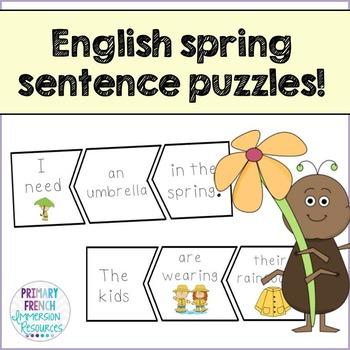 English Spring Sentence Scramble