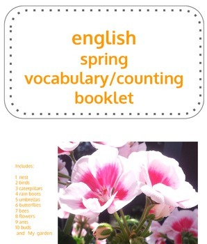 English Spring Vocabulary Drawing Booklet