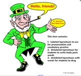 St. Patrick's Day Label the Leprechaun SmartBoard Activity