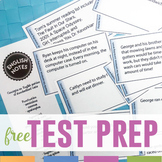 English Test Prep Task Cards