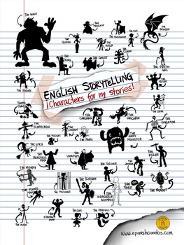 English Storytelling Characters Poster