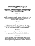English Strategies for Parents (K-4 Student Conferences Hand Out)