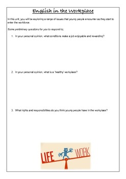 English Studies Introduction - What is the Perfect Job?