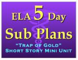 5 Day English Sub Plan - Emergency Plans - FULL WEEK Middl