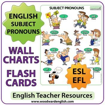 English Subject Pronouns - ESL Chart