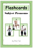English Subject Pronouns Flashcards (Flashcards dos pronomes pessoais em inglês)