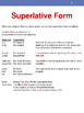 English: Superlative Adjectives with Photos
