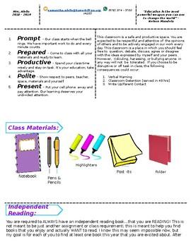 English Syllabus Template