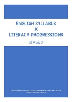 English Syllabus and Literacy Progressions - Stage 3