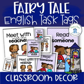 English Task Board Tags Fairy Tale Theme