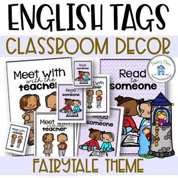 English Task Board Tags Fairy Tale Theme