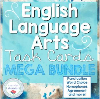 English Language Arts Task Cards Mega Bundle