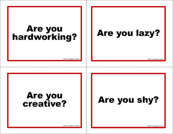 English Task Cards: Asking Questions with Be