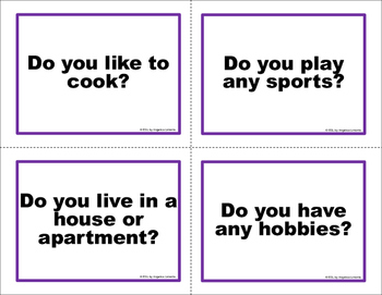 English Task Cards: Asking Questions with Do
